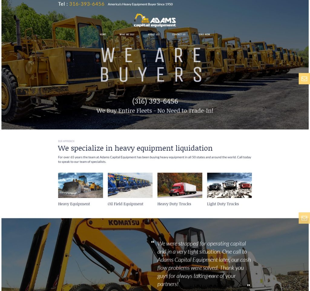 Adams Capital Equipment