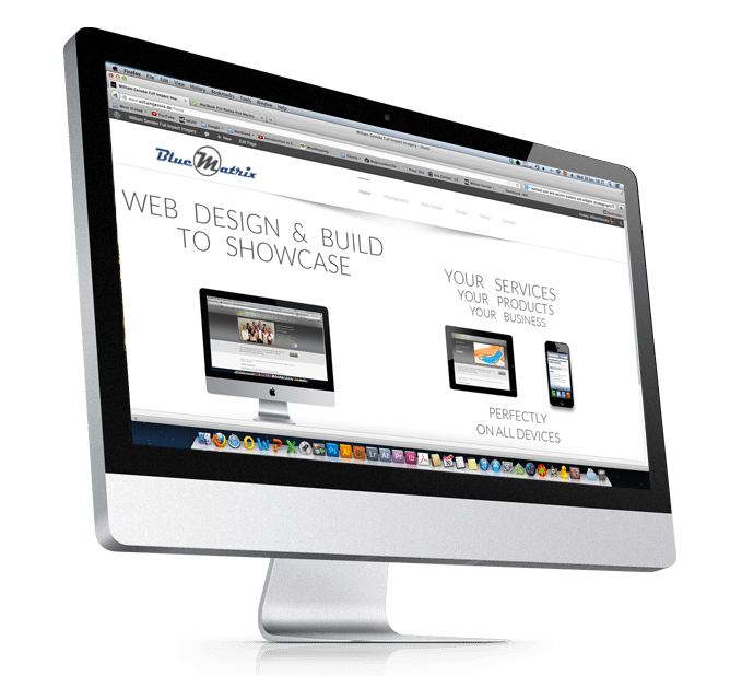 BlueMatrix Web design